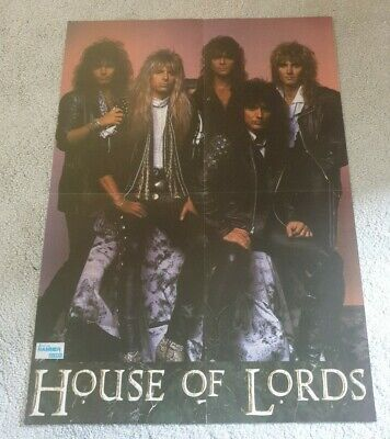 House Of Lords/W.A.S.P. - Magazine Poster Centrefold • 4.95£
