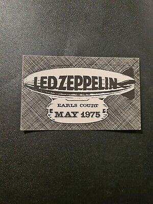 Led Zeppelin Backstage Satin Pass Earls Court May 1975 • 9.99£