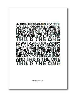 The Stone Roses This Is The One Unframed Art Print Poster With Lyrics • 5.99£