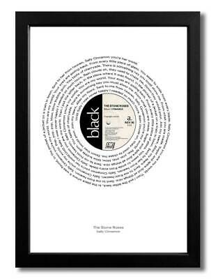 The Stone Rose Sally Cinnamon A4 Art Print Poster Of Single With Lyrics • 5.99£