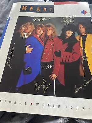 'Heart - Brigade World Tour 1990' SIGNED TOUR PROGRAM Ann & Nancy Wilson • 35£
