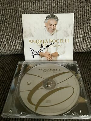 'My Christmas' Andrea Bocelli SIGNED CD • 25£