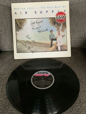 'Making Love....The Very Best Of' Air Supply SIGNED LP Graham Russell Hitchcock • 25£