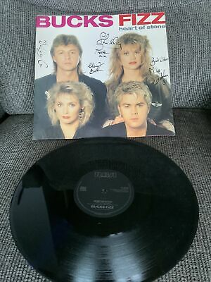"'Heart Of Stone' Bucks Fizz SIGNED 12"" Cheryl Baker Mike Nolan Bobby G Shelley • 25£"