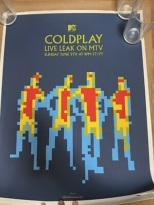 **Ultra Rare**ColdPlay Live At MTV Sunday June 5, 2005, Ames Bros. Signed & Numb • 0.73£