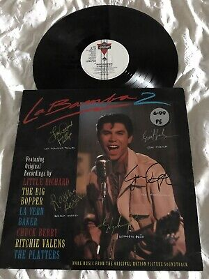 La Bamba 2 Lou Diamond Phillips-Esai Morales-Joe Pantoliano-Peña-DeSot SIGNED LP • 45£