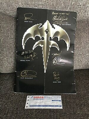 'Building Empires Tour 1990' Queensrŷche SIGNED Programme + Ticket Stub • 70£
