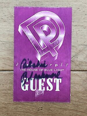 Ritchie Blackmore Signed Guest Pass  • 49£