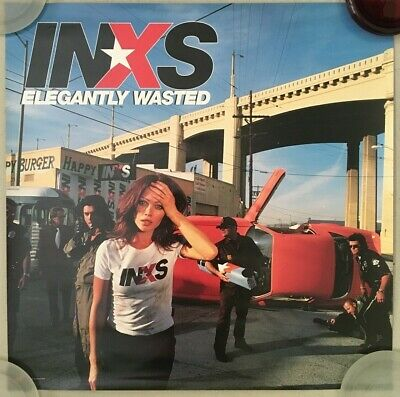 INXS - Elegantly Wasted - '97 Promo Poster 'mirrored' 24x24  2-sided - USA USED • 14.81£