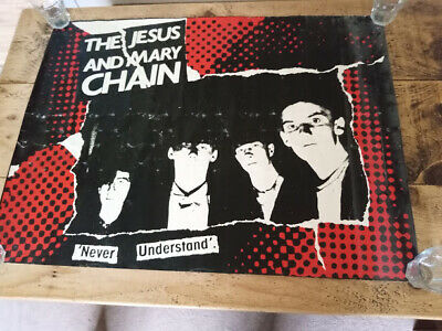 Jesus & Mary Chain - Never Understand - Poster - Awesome Vintage Original C86 • 69.99£