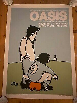 Oasis X Pete McKee - Heaton Park 2009 Gig Poster - Limited Edition • 65£