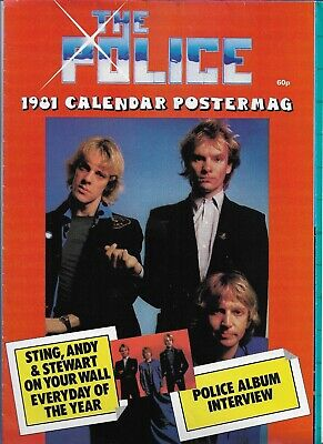 Sting / The Police - 1981 Calendar Postermag - Scarce Original 1981 Magazine  • 8.99£