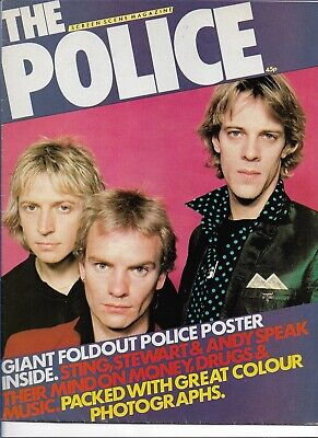 Sting / The Police - Screen Scene - Scarce Original 1980 Poster Magazine  • 8.99£