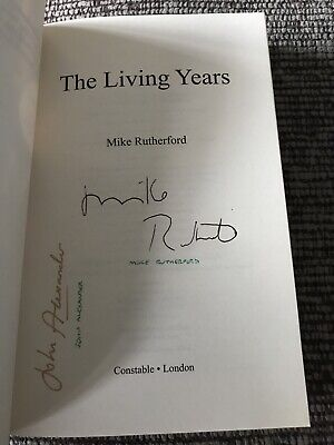 'The Living Years'  Mike Rutherford John Alexander SIGNED Paperback Book Genesis • 35£