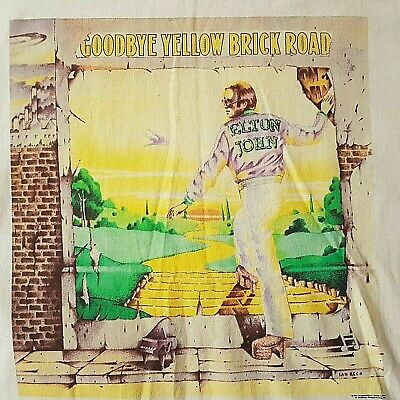 Elton John -  Goodbye Yellow Brick Road  Tour T-shirt From Former Pa Bob Halley • 95£