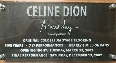Celine Dion A New Day Colosseum Stage Piece • 89.41£