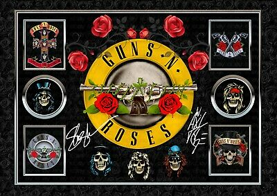 Guns N Roses Band  ORIGINAL A4 Signed PHOTO PRINT MEMORABILIA • 7.90£