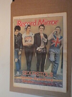 Sex Pistols 1977 Record Mirror Magazine Stunning Cover 2 Page Interview W/Group • 124.99£