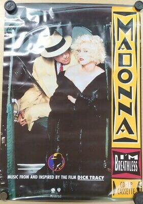 Madonna I'm Breathless Record Shop Promo Poster Rare Dick Tracy Vintage 24x32 • 19.99£