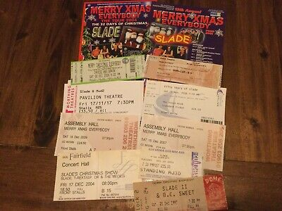 Slade - Nine Concert Ticket Stubs 1997 - 2017 & Two Flyers • 1.04£