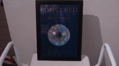 Simply Red Framed Promo Board • 10£