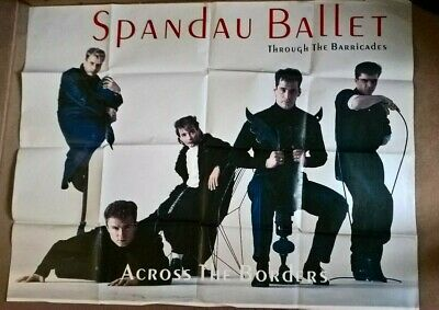 Spandau Ballet Original Through The Barricades Concert Poster 1986 • 15£