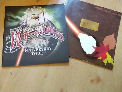JEFF WAYNE'S WAR OF THE WORLDS  TOUR PROGRAMME 30th ANNIVERSARY &  AUTUMN LEAVES • 16.99£