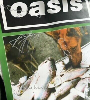 * Oasis - Some Might Say Signed Poster Rare Promo  • 495£