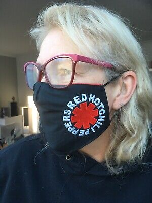 Red Hot Chili Face Masks 100% Cotton Double Layer With Opening For Filter. • 7.50£