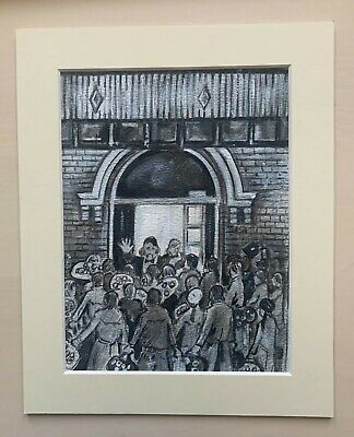 Northern Soul Art Pencil Sketch; Wigan Casino;  No Membership Card, No Entry  • 27.50£