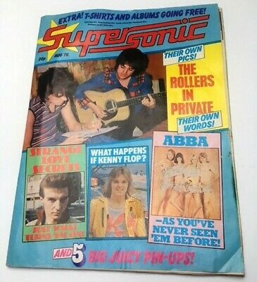 1976 SUPERSONIC MAGAZINE With Bay City Rollers Flexidisk Interview • 3.99£