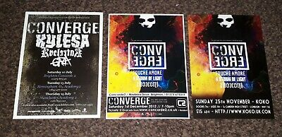 Converge (band) Tour Flyers  • 2£