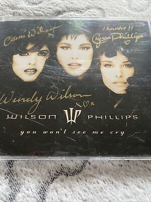 'You Won't See Me Cry' Wilson Phillips SIGNED CD Single • 45£