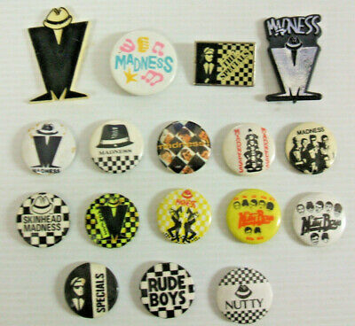 Madness,Nutty Boys & Specials: 17  Vintage Button Pin Badges Ska 2-Tone 1979/80s • 21.99£