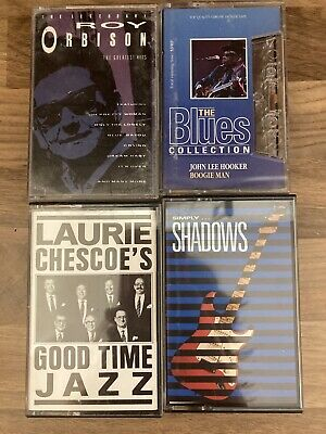 4 X Cassette Tapes Roy Orbison, Shadows, Blues, Laurie Chescoe • 2.90£