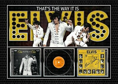ELVIS PRESLEY -  That's The Way It Is  - SIGNED A4 PHOTO PRINT MEMORABILIA • 7.90£