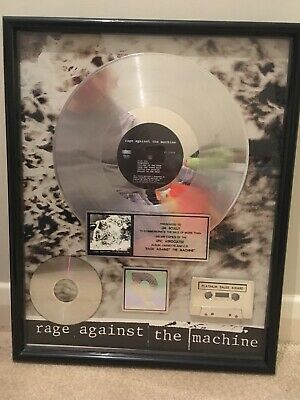 Rage Against The Machine Self Titled Album RIAA Platinum Record Award Disc • 1,499.99£
