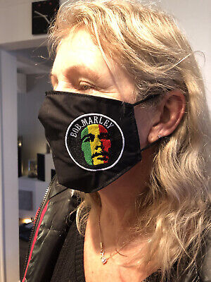 Bob Marley Face Masks 100% Cotton Double Layer With Opening For Filter. • 7.50£
