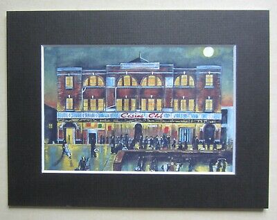 Northern Soul; Wigan Casino; Mounted Print;  Moonlight, Music And You  • 7.95£