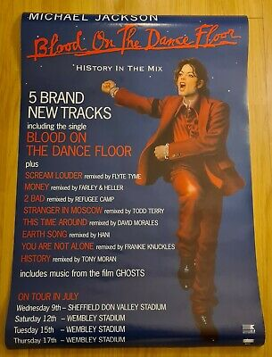 Michael Jackson Official Blood On The Dancefloor Rare Promo Poster • 22£