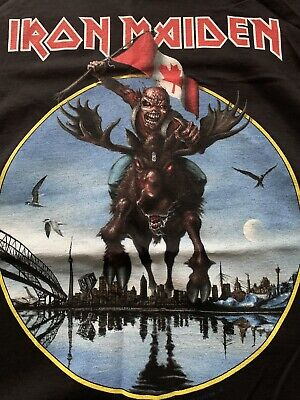 Iron Maiden Canadian Event Shirt 2013 Rare Vintage XL • 20£