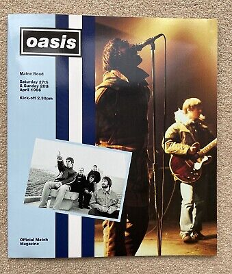 OASIS - 'Maine Road Official Match Magazine'  1996 Concert Programme  EX/EX MINT • 39.99£