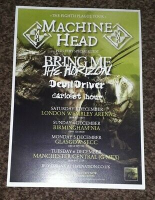 Machine Head/Trivium Double Sided Uk Tour Flyer • 1.50£