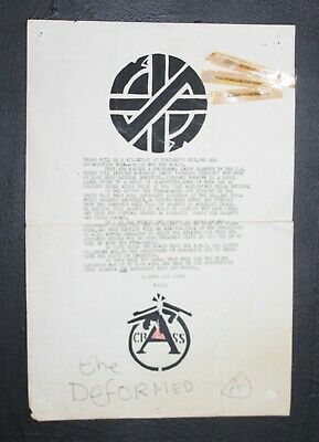 Crass: BBC Person's Unknown/Anarchy In The UK  Handout Poster-1979 • 16£
