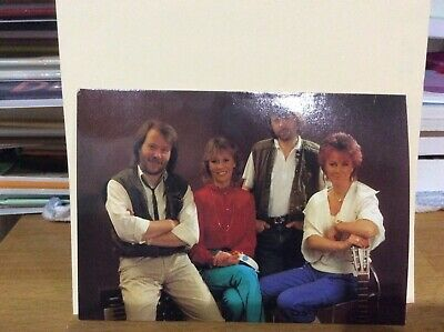 Abba Promotional Card.1982.Original. Sweden. Genuine.Private Collection. • 20£