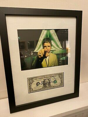 Noel Gallagher - Framed & Signed One Dollar Bill High Flying Birds Liam Oasis • 195£