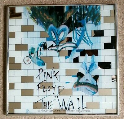 Pink Floyd Official Original 1982 The Wall Glass Mirror • 75£