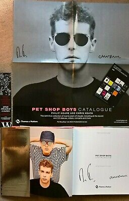 Pet Shop Boys Rare SIGNED Catalogue Book & SIGNED Limited Poster Autographed • 250£