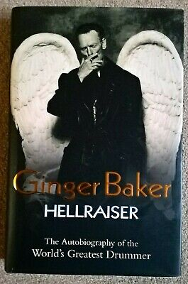 Ginger Baker Cream Eric Clapton SIGNED Hellraiser Book Autographed Proof • 135£