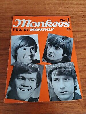 THE MONKEES ORIGINAL MONTHLY No  1 FEB 1967 • 13.99£